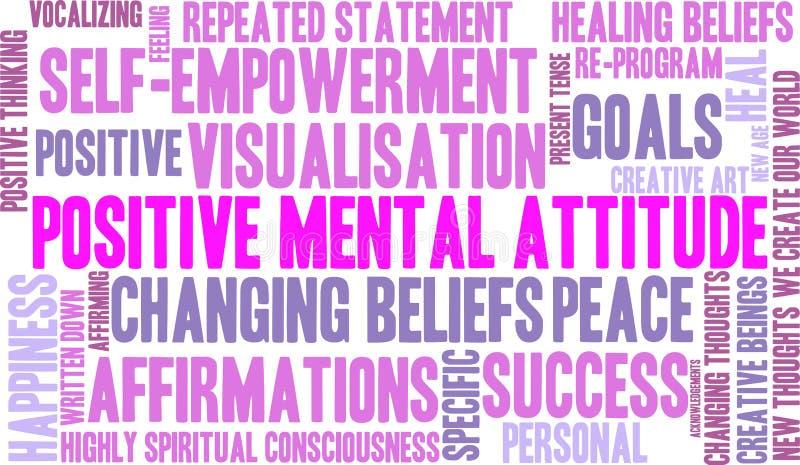 Nuage positif de Word d'attitude mentale illustration de vecteur