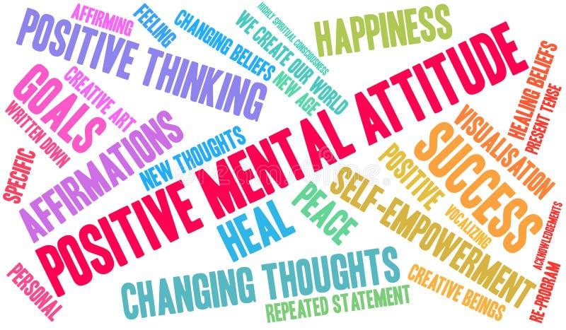 Nuage positif de Word d'attitude mentale illustration stock