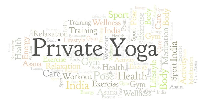 Nuage privé de mot de yoga illustration de vecteur