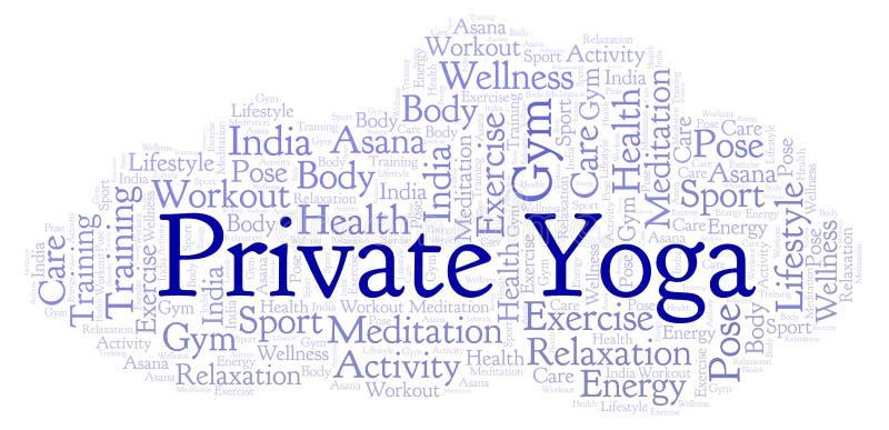 Nuage privé de mot de yoga illustration libre de droits