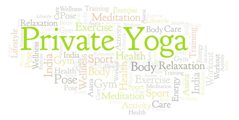 Nuage privé de mot de yoga illustration stock