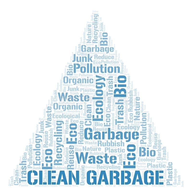 Nuage propre de mot de déchets illustration de vecteur