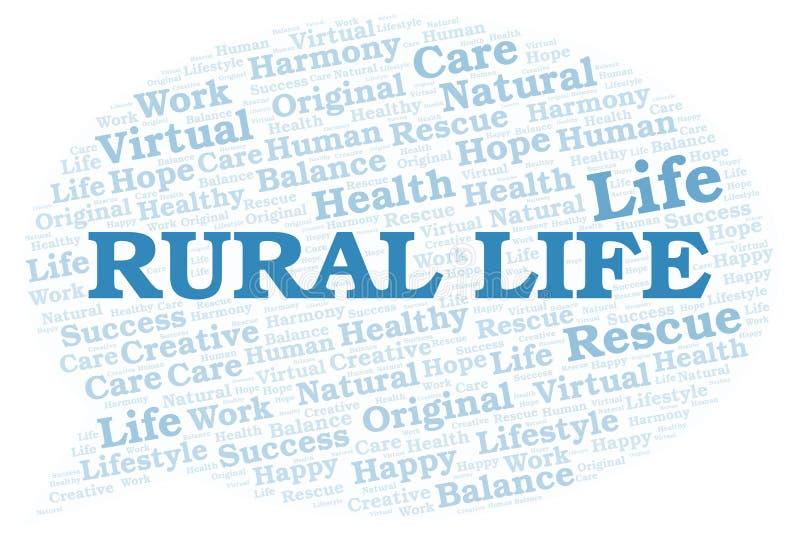 Nuage rural de mot de la vie illustration libre de droits