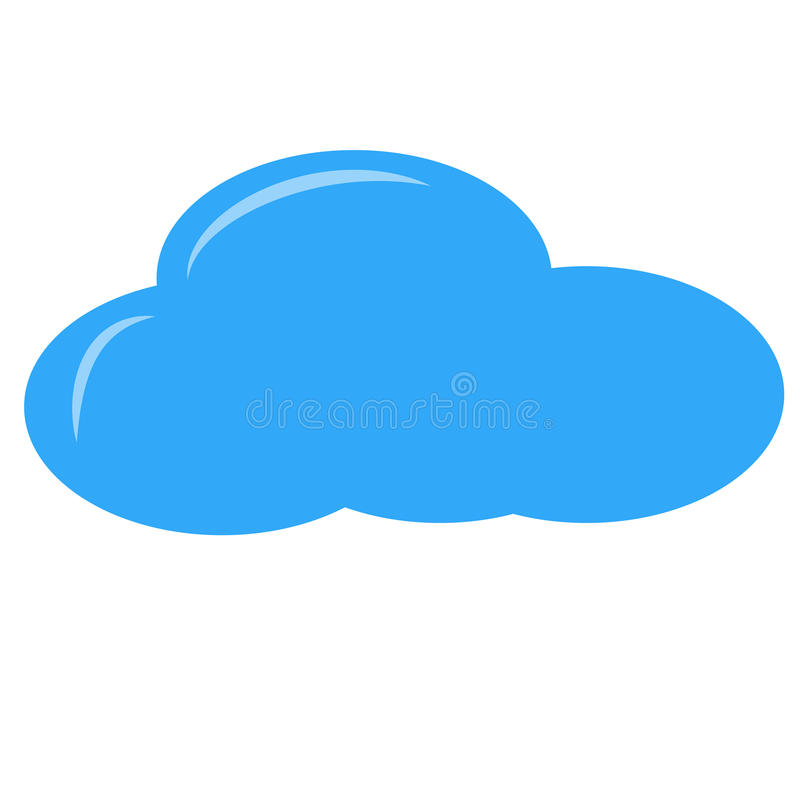 nuage simple illustration stock