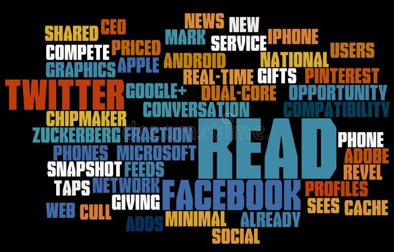 Nuage social d'étiquette de medias images stock