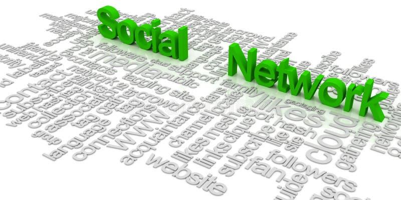 Nuage social d'étiquette de réseau illustration stock