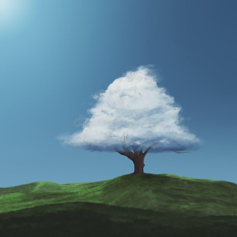 Nuage sur un arbre photographie stock libre de droits