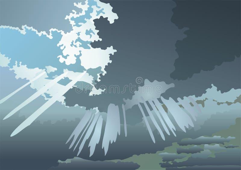 Nuages illustration stock