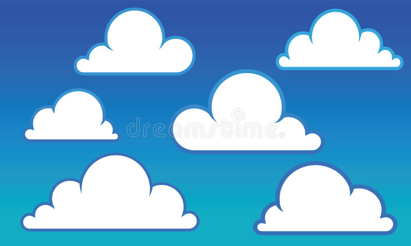 Nuages illustration libre de droits