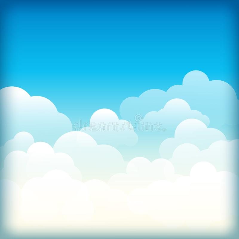 Nuages blancs sur le ciel bleu fond abstrait avec des nuages sur le ciel bleu Ciel bleu et nuages blancs Ciel bleu avec des nuage illustration libre de droits