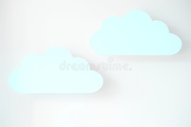 Nuages bleus image stock