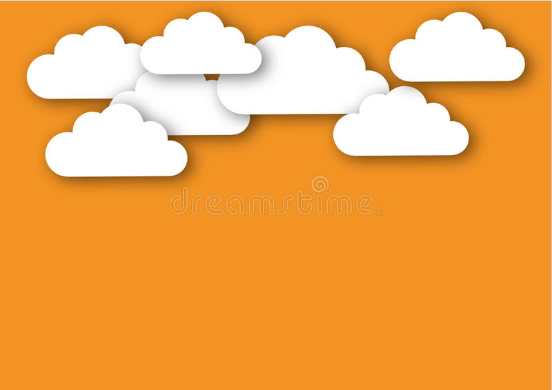 Nuages contre un bon illustration libre de droits