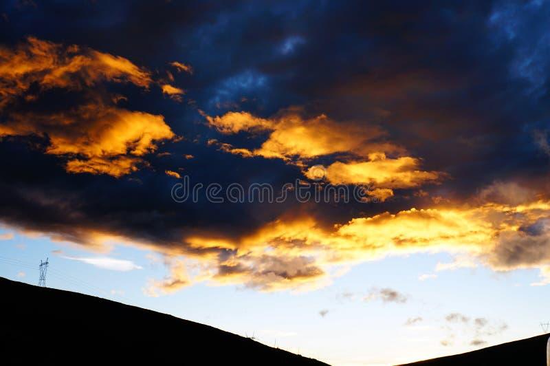 Nuages Cramoisis Photo libre de droits