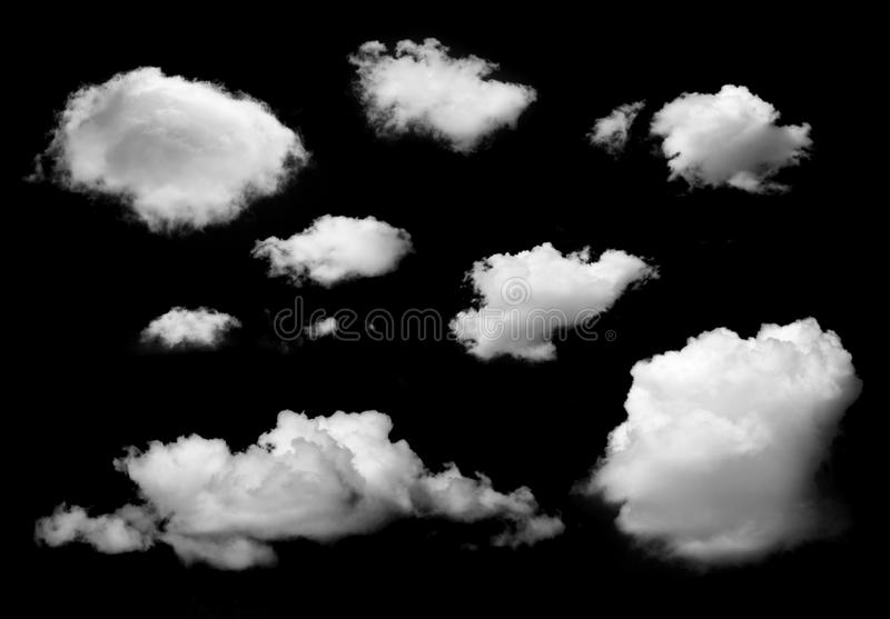 Nuages d'isolement images stock