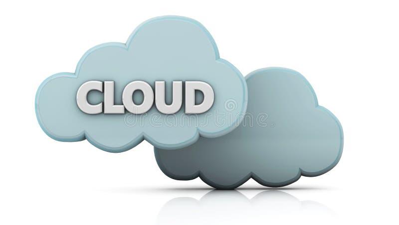 nuages 3d illustration de vecteur