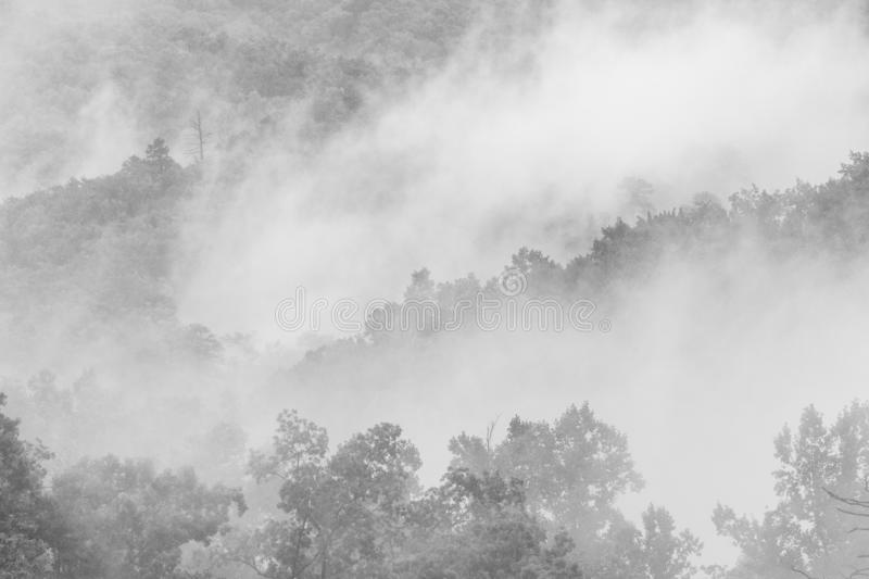 Nuages dans Great Smoky Mountains image stock