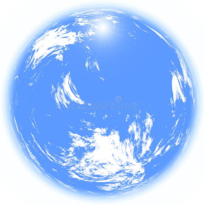 Nuages 360 de ciel illustration libre de droits