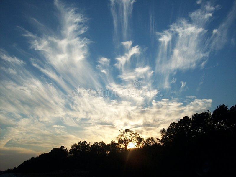 Nuages de ciel photo libre de droits