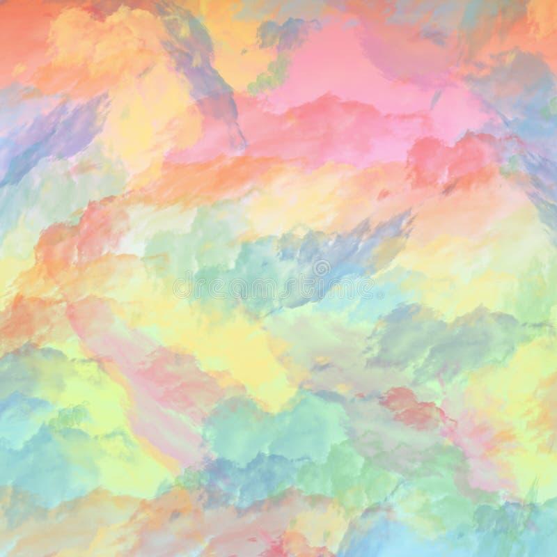 Nuages de couleur en pastel douce dans une composition paisible image stock
