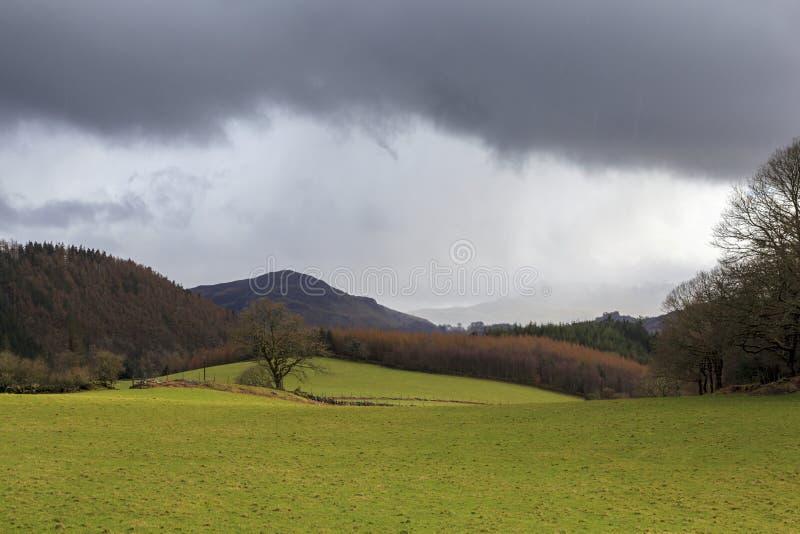 Nuages de forte pluie image libre de droits
