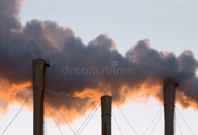 Nuages de fumée photographie stock