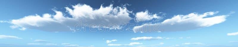 Nuages de panorama de ciel de panorama photographie stock libre de droits