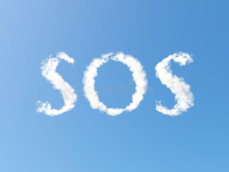Nuages de SOS illustration libre de droits