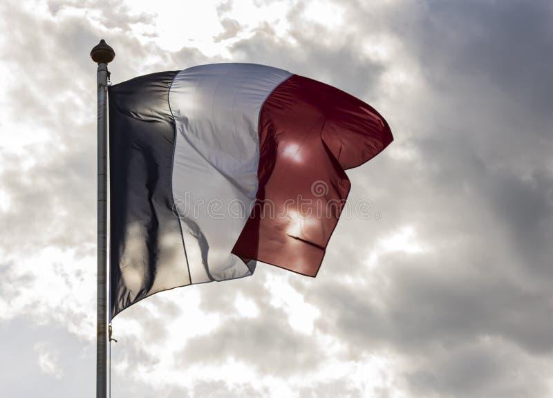 Nuages de Sun de drapeau de Frances image libre de droits
