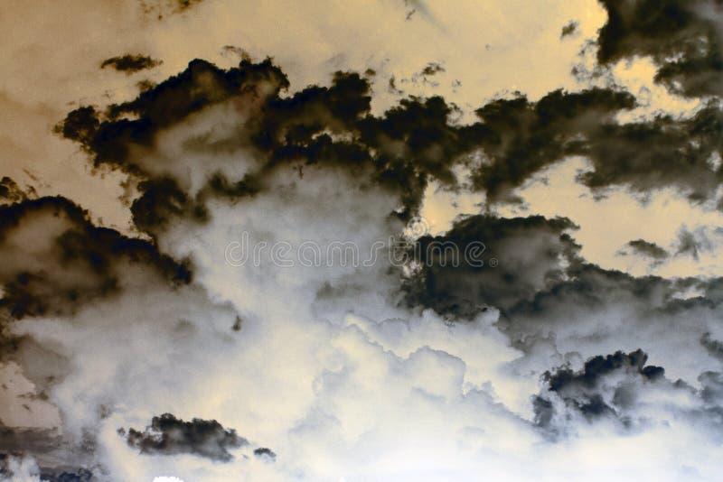 Nuages de tempête abstraits images libres de droits