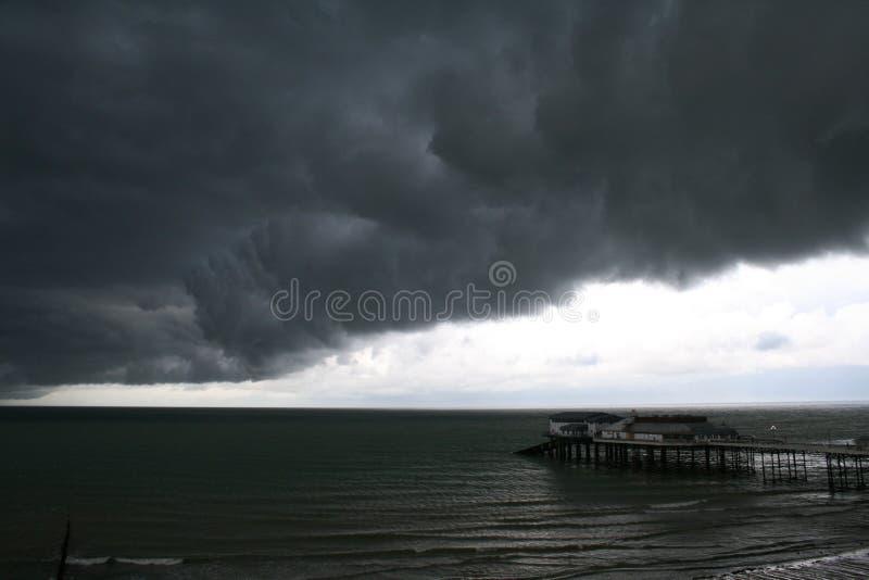 Nuages de tempête en Norfolk image libre de droits