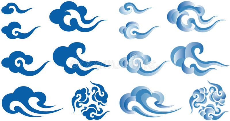 Nuages de type chinois illustration stock