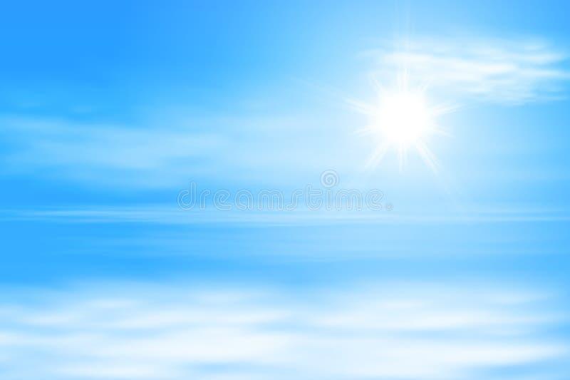 Nuages et soleil illustration de vecteur