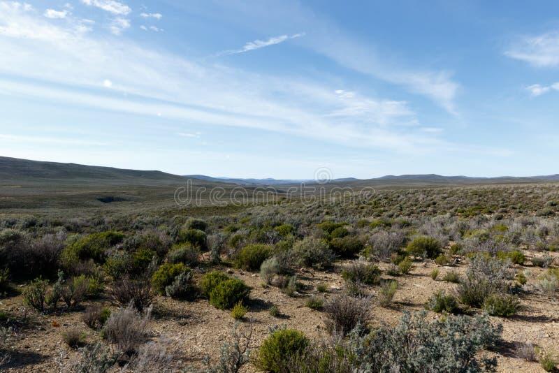 Nuages indiquant la merveille sans fin du Karoo de Tankwa photographie stock