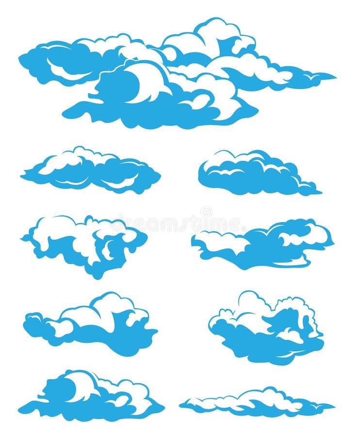 nuages réglés illustration stock