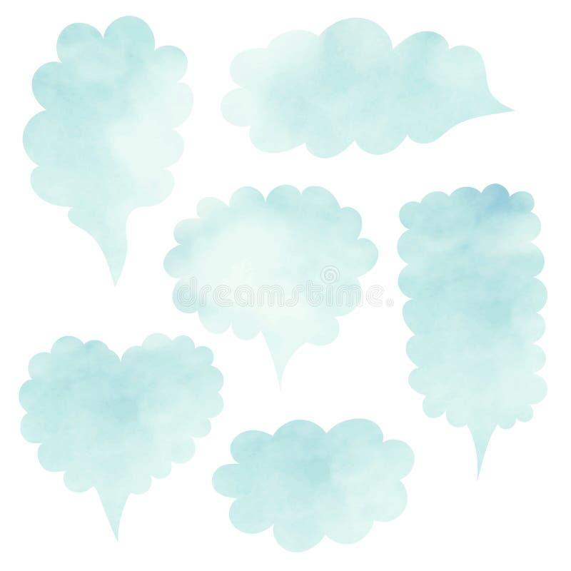 nuages réglés Ensemble vide de citation de calibre Ensemble de vecteur de calibre illustration stock