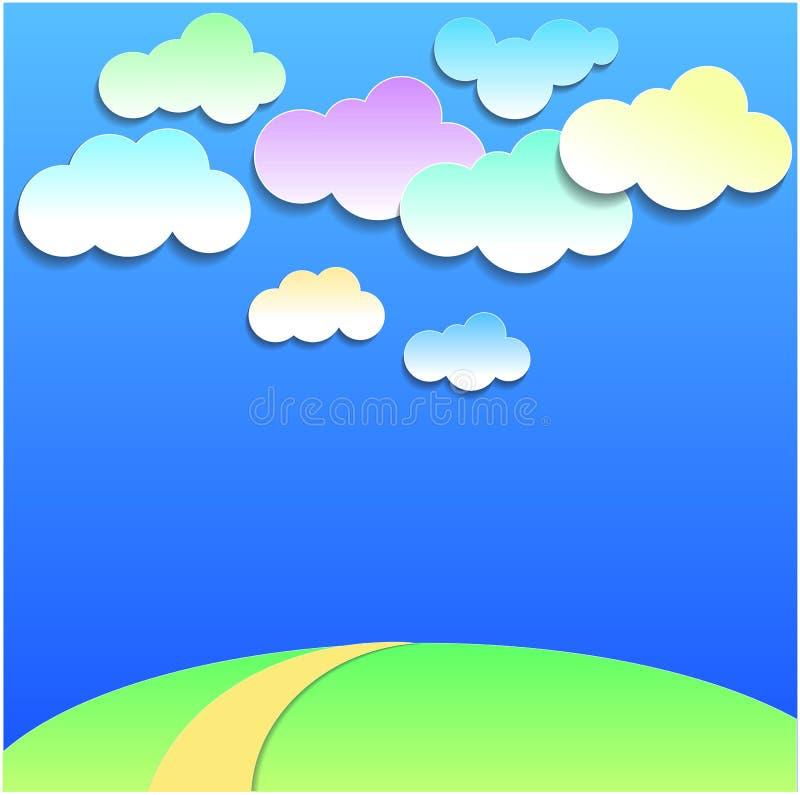 Download Nuages sur le ciel illustration de vecteur. Illustration du cartoon - 56476537