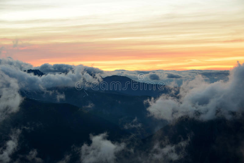 Nuages Tatras occidental photographie stock