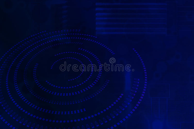Nuance abstraite bleue d'avenir de technologie de fond illustration libre de droits