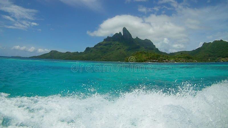 Nuances de Bora Bora de bleu photos stock
