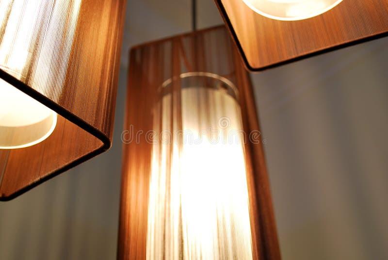 nuances de lampes brunes image stock