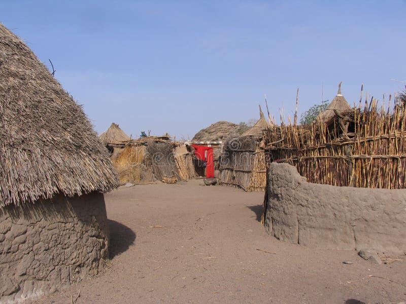 Nuba村庄在苏丹 免版税图库摄影