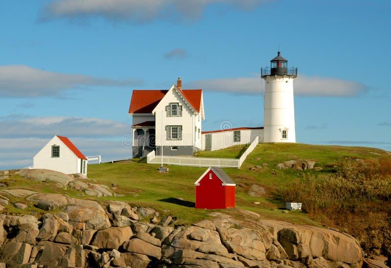 Nubble Island Light House royalty free stock photos