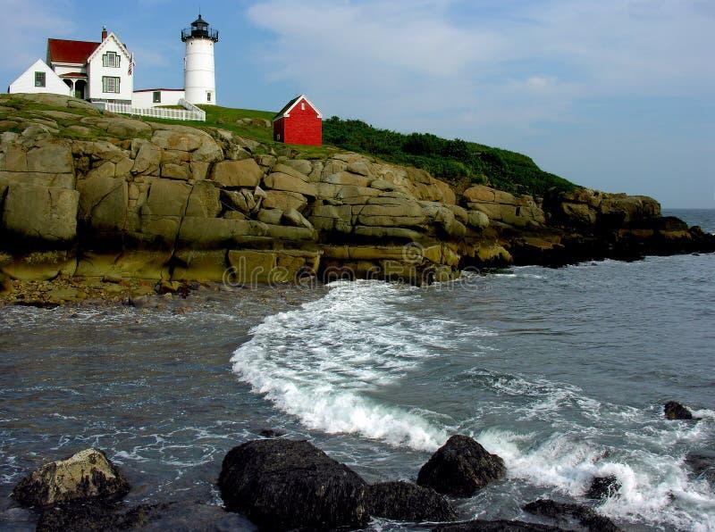 Nubble Lighthouse royalty free stock photo