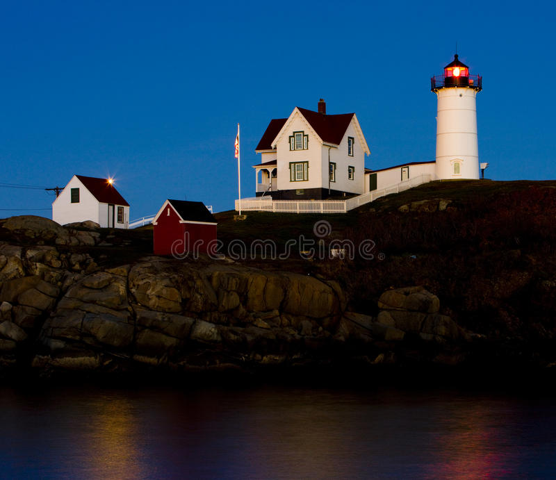 Nubble Lighthouse royalty free stock photos