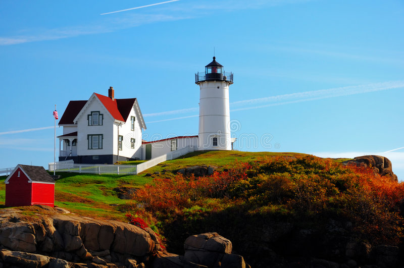 Nubble Lighthouse royalty free stock images