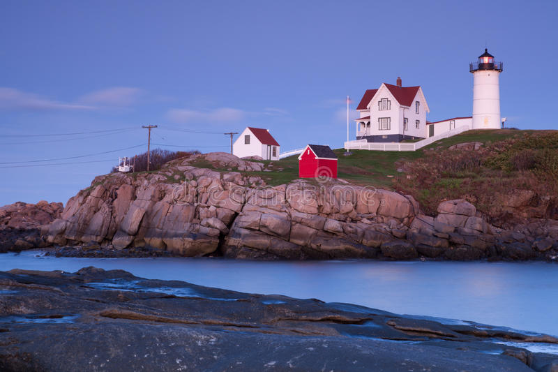 Nubble Lighthouse, Cape Neddick stock images