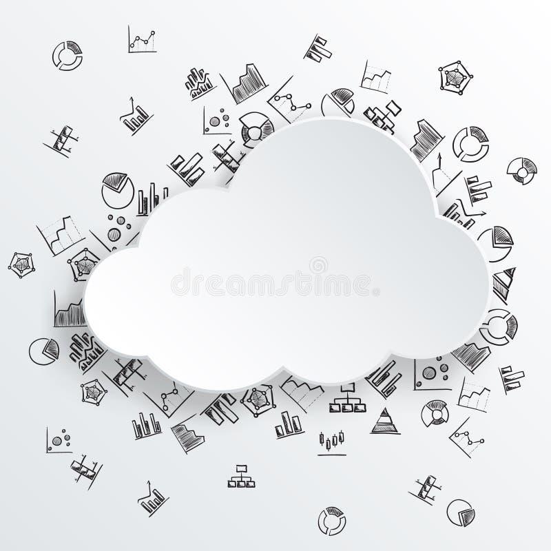 Download Nube Abstracta Con Los Iconos Dibujados Mano Del Diagrama Ilustración del Vector - Ilustración de gráfico, carta: 41920353