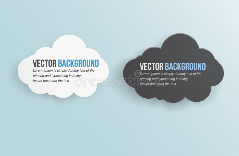 Nube abstracta de la tempestad de truenos del fondo del vector. stock de ilustración