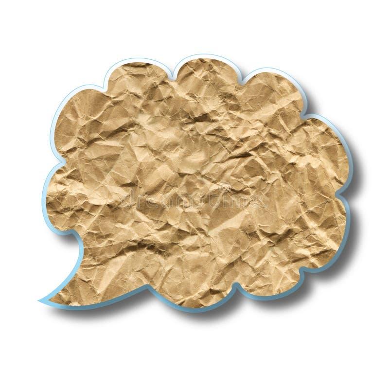 Nube abstracta del papel machacado ilustración del vector