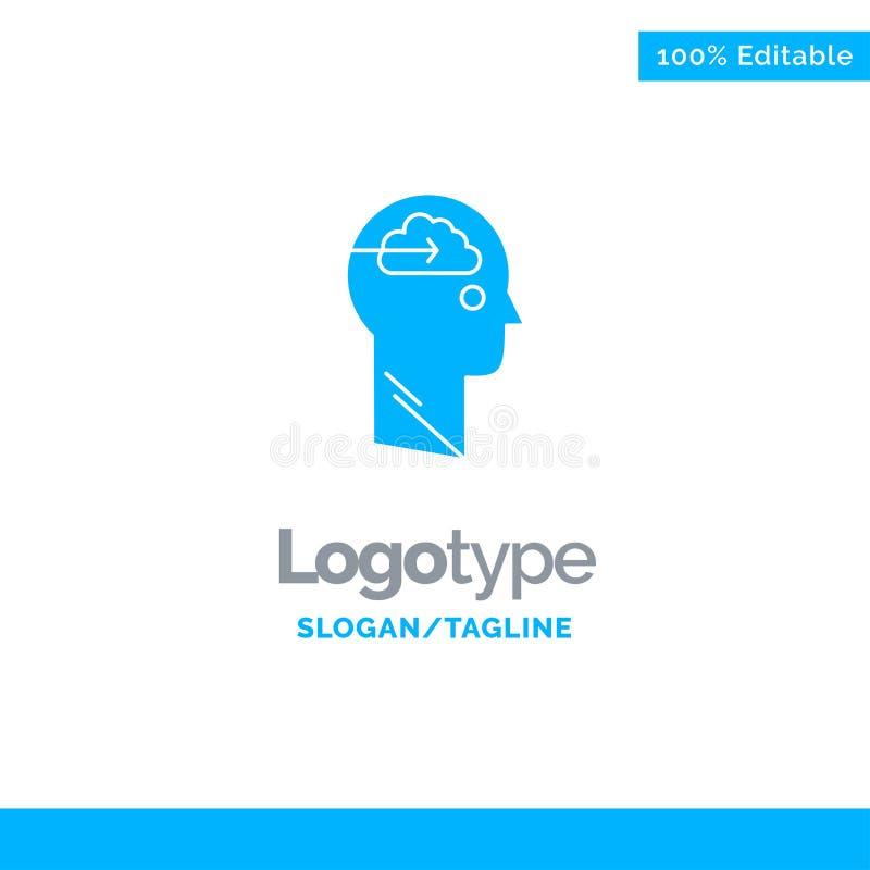 Nube, actualización, transferencia directa, carga por teletratamiento, usuario Logo Template sólido azul Lugar para el Tagline stock de ilustración